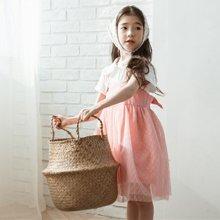 诗茵童装2018夏季新款韩版吊带背带蕾丝女童连衣裙子80559