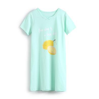 爸媽親女童睡裙夏兒童睡衣親子裝水果系列寶寶家居服A類女生睡裙86598