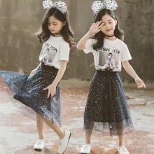 美纯衣天使2019年新款夏季儿童装洋气韩版网红中大童女装时髦MLK7090