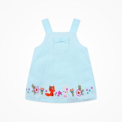 丑丑嬰幼 女寶寶可愛背心裙女童春秋款娃娃背帶裙1-3歲 CJE351T