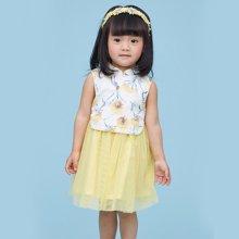 丑丑婴幼 夏季新款 女宝宝 康乃馨纱裙1岁半-5岁 CLE350W