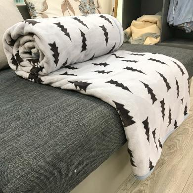 領秀范兒秋冬毯子被子床墊毛毯墊法蘭加絨毛絨床單法萊珊瑚絨單兒童被空調被88001