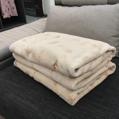 領秀范兒秋冬季毯子被子加厚保暖床墊毛毯墊法蘭加絨毛絨床單法萊珊瑚絨單兒童被空調被88002
