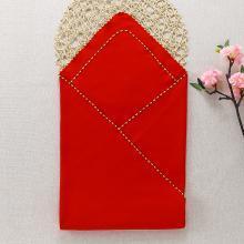 春夏母嬰用品喜慶大紅色純棉嬰兒包被 兒童浴巾寶寶包巾蓋毯90CM*90CM