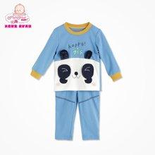 丑丑婴幼新款男童春款套装 男宝宝长袖圆领卡通春季套装6个月-3岁CGE721X