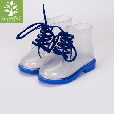 kk樹兒童雨鞋男童學生四季防滑透明小孩雨靴可愛女童公主寶寶水鞋   KQ18037  包郵