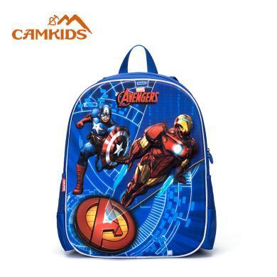 camkids男童書包中小童發光兒童綠巨人鋼鐵俠背包