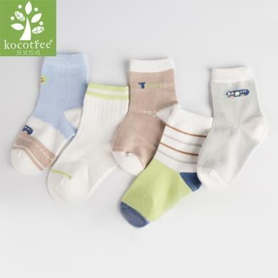 KK樹兒童襪子春秋男童女童棉襪保暖童襪卡通可愛寶寶襪子薄款室內學生  KQ17185 包郵