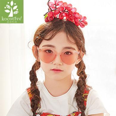 KK树儿童眼?#30340;的?#31461;太阳镜女童正品个性宝宝眼镜防紫外线潮韩版 KQ28202 包邮
