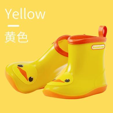 kk樹兒童雨鞋男童防滑女童水鞋小黃鴨寶寶雨靴幼兒園小童膠鞋小孩學生  KQ19042 包郵