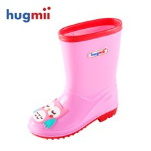 hugmii兒童時尚卡通貼片雨鞋