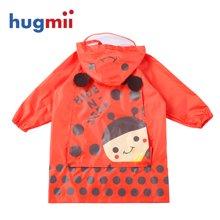 hugmii 動物款立體造型帶書包位兒童雨衣