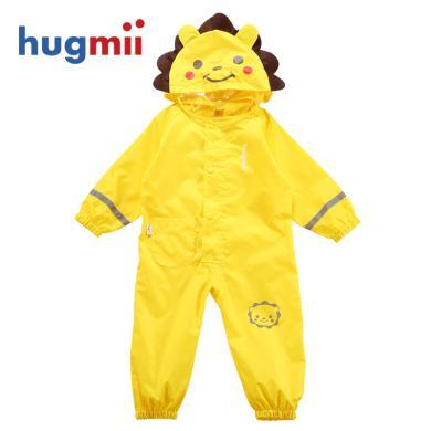 hugmii兒童連體雨衣春夏款卡通立體造型男女童寶寶小孩透氣雨披