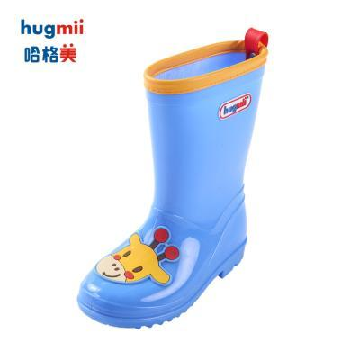 hugmii儿童雨鞋春夏款男童女童防滑宝宝胶鞋雨靴时?#34892;?#23401;水鞋中筒