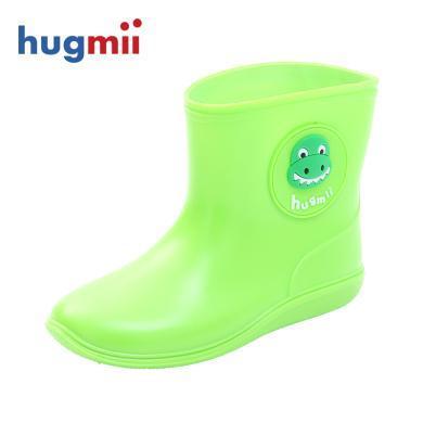 hugmii儿童雨鞋?#20449;?#23453;宝?#21487;?#20302;筒雨靴户外轻便胶鞋