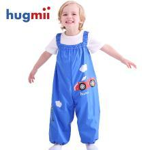 hugmii兒童連體雨褲防水背帶幼兒玩沙褲