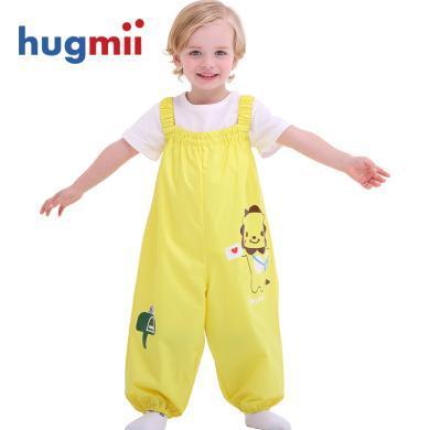 hugmii儿童连体雨裤防水?#28818;?#24188;儿玩沙裤