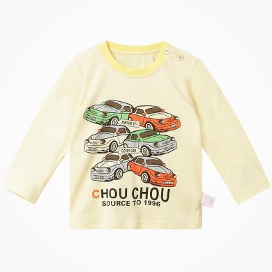 丑丑嬰幼 男童上衣T恤秋冬新款男寶寶圓領T恤6個月-3歲 CFE207X