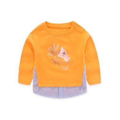 丑丑嬰幼男寶寶卡通長袖T恤秋季新款男童保暖圓領上衣1-5歲CME218X