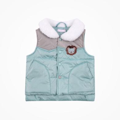 丑丑嬰幼 男童冬季保暖棉背心男寶寶時尚拼色棉馬甲1-5歲 CME403X
