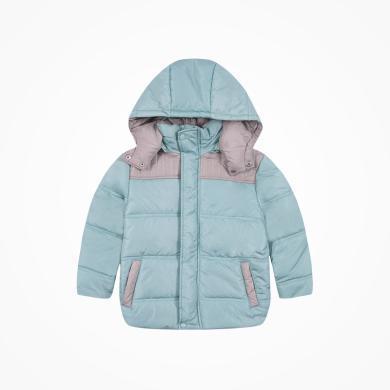 丑丑嬰幼 男童保暖棉衣外套冬季男寶寶時尚拼接棉衣1歲半-5歲 CME612X