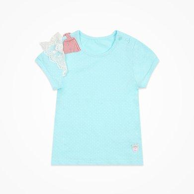 丑丑嬰幼 女童純棉圓領可愛T恤夏季女寶寶甜美短袖上衣1-4歲 CHE251T