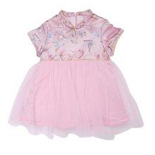 丑丑嬰幼 女寶寶中國風連衣裙冬季女童節慶吉祥紗裙、棉裙1歲半-5歲