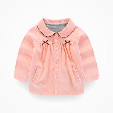 丑丑嬰幼 秋冬新款女童翻領針織外套女寶寶休閑保暖上衣 1-4歲 CKE650T