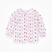 丑丑嬰幼 男女寶寶前開上衣純棉長袖內服家居服上衣3個月--1歲半 CGD202T