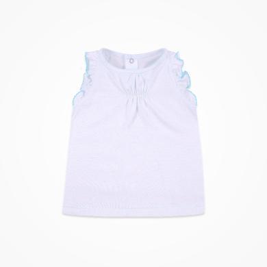 丑丑嬰幼 女寶寶純棉針織背心夏季新款女童甜美后半開無袖背心  CHE354T