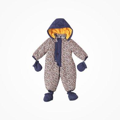 丑丑嬰幼 冬季男寶寶帶帽連體衣加厚保暖帶手套腳套三件套棉哈衣、爬服 CME047X