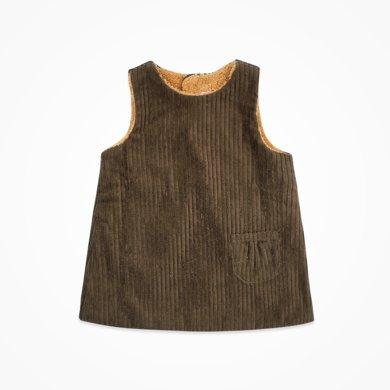 丑丑嬰幼 女童加絨時尚背心裙秋冬款女寶寶可愛背心裙 CIE353T