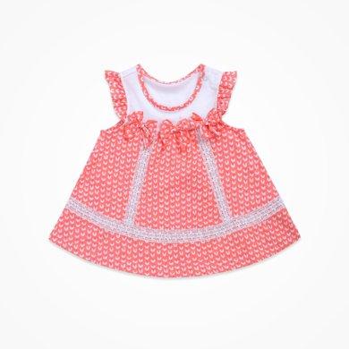 丑丑嬰幼 女童可愛娃娃連衣裙夏季女寶寶背心連衣裙