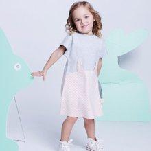 G100寄意百女童春夏新款童装立体卡通印花短袖连衣裙GGS6401