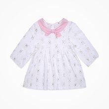丑丑嬰幼 春秋季女寶寶長袖可愛蝴蝶領連衣裙1-4歲 CLE371X