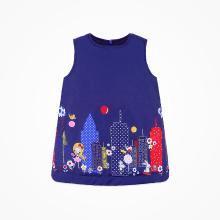 丑丑嬰幼 女寶寶時尚棉連衣裙冬季女童可愛棉背心裙1-2歲 CIE351T