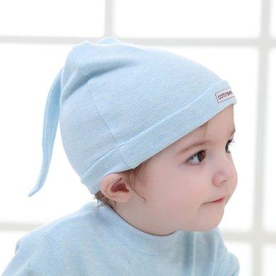 【Cottonshop/棉店】舒絨布新生兒胎帽