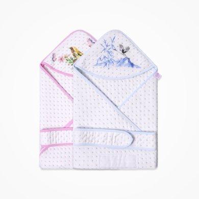 丑丑婴幼 新生儿卡通可爱包被 男女宝宝夹丝棉保暖包被 85*85cm CKA401W