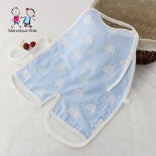 Marvelous Kids 夏季新生嬰幼兒竹棉雙層紗布連體肚兜0-2歲寶寶