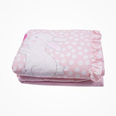 丑丑婴幼 新款女童床上用品女宝宝可爱童被卡通可爱兔秋冬棉被子 CMA208X