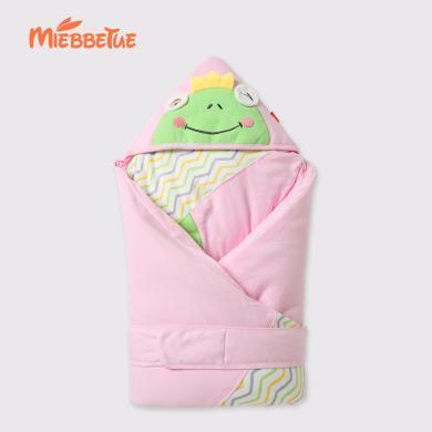 嘜巴兔 嬰兒抱被新生兒包被保暖抱毯寶寶秋冬款加厚被子可脫膽