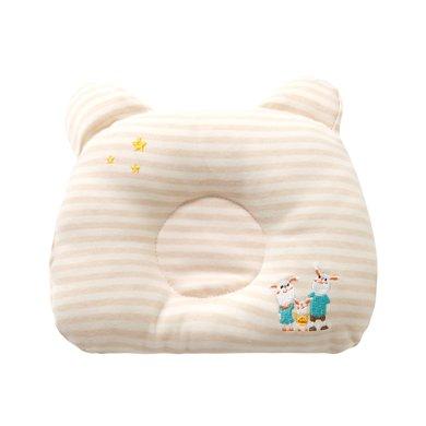 班杰威爾寶寶枕頭新生兒透氣純棉防多汗新生兒童枕頭寶寶定型枕幼兒矯正枕