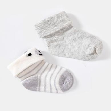 【Cottonshop棉店】2019秋冬新品妙貝親新生嬰兒胎襪夏季0-3月嬰兒襪子薄棉初生寶寶可愛春秋筒襪