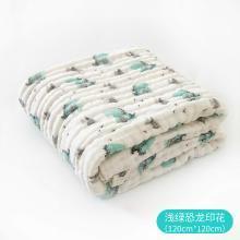 【2019新品】棉店婴儿浴巾纯棉新生儿6层加厚柔软吸水大毛巾儿童宝宝盖毯浴巾