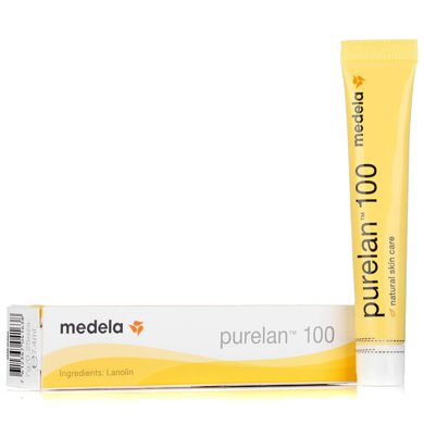 Medela美德乐瑞士原装进口纯羊脂膏7g乳头龟裂膏护乳霜滋润800.0703