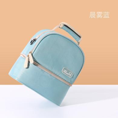 小雅象 背奶包背奶裝備冷藏便攜式媽媽上班媽咪包大容量保溫袋藍冰儲奶冰包母乳保鮮