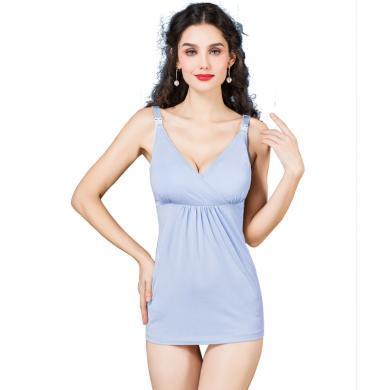 摩登孕媽 夏季新款孕婦吊帶哺乳背心懷孕期莫代爾上衣喂奶衣產后薄款打底衫