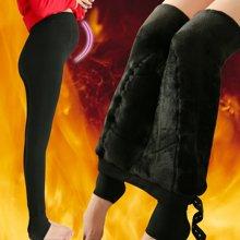 妃孕宝 冬季新款加绒加厚托腹裤孕妇打底裤棉裤妈妈装长裤子