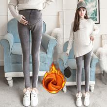 妃孕寶 秋冬裝新款加絨加厚孕婦裝孕媽托腹褲打底保暖褲女
