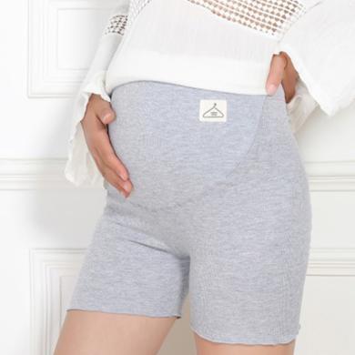 摩登孕媽 防走光托腹短褲女春秋新款孕婦裝舒適波浪邊薄款孕婦安全褲女